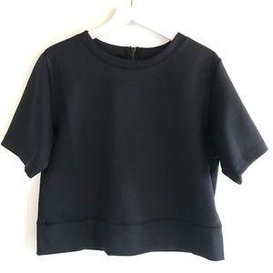Carbon38 Black Short Sleeve Top Full Back Zipper